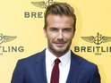 David Beckham at the opening of the Breitling boutique in Madrid, June 2015