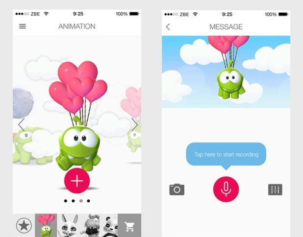 Zoobe Message Entertainment app