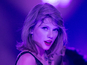 Taylor says 'I love you' to Calvin on stage?