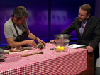 Environmentalist George Monbiot skins, butchers, cooks and eats a squirrel on live TV
