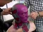 Watch Paul Bettany's amazing make-up transformation to become The Vision