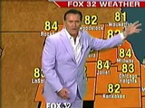 Bruce Campbell makes a guest appearance as a local weatherman on Good Day Chicago