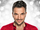 Peter Andre is ready for business in his red sequined shirt.