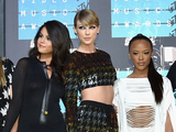 Taylor Swift is joined by her Bad Blood co-stars at the MTV Video Music Awards.