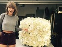 Taylor Swift receives flowers from Kanye West