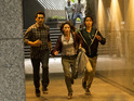 Cliff Curtis as Travis, Elizabeth Rodriguez as Liza and Lorenzo James Henrie as Chris in Fear The Walking Dead S01E02