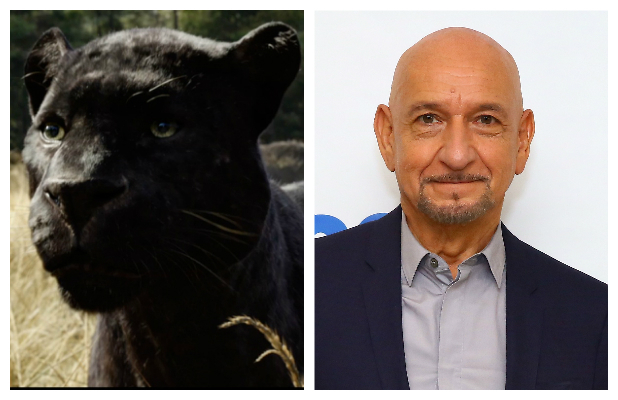 Ben Kingsley as Bagheera in Disney's The Jungle Book (2016).