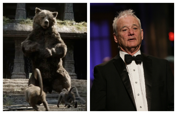 Bill Murray as Baloo the bear in Disney's The Jungle Book (2016).