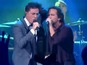 Stephen Colbert performs with Pearl Jam