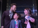 The singer surprised 10-year-old fundraiser Amelia Gebruers for the Pride of Britain Awards.