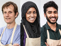 The Great British Bake Off 2015 finalists: Ian, Nadiya & Tamal