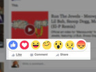 Watch video footage of Facebook's Reactions feature in action
