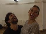 Adam Garcia and Kimberley Wyatt pose amid rehearsals for Bruce's Ha
