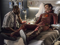 Jesse L. Martin & Grant Gustin in The Flash S02E01: 'The Man Who Saved Central City'