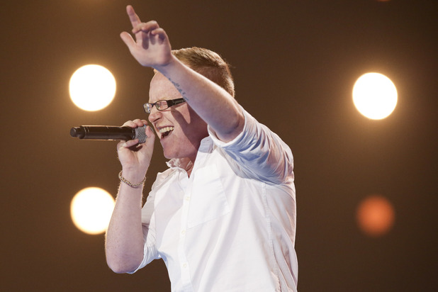 Joseph McCaul at the X Factor Six Chair Challenge