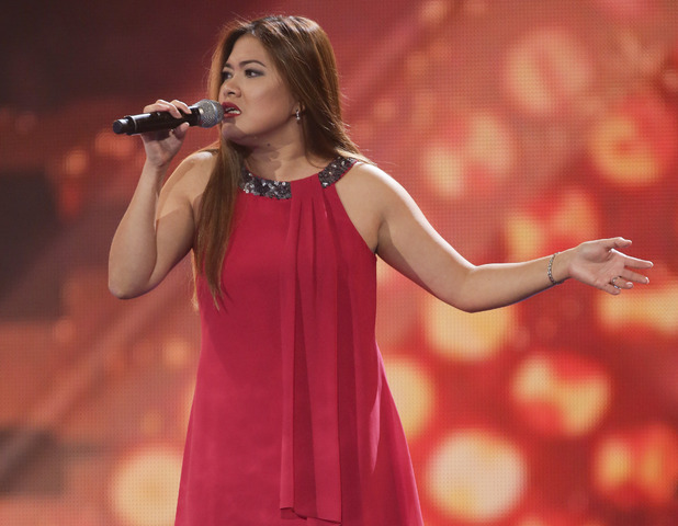 Neneth Lyons at the X Factor Six Chair Challenge