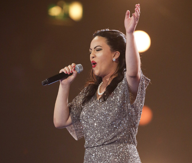 Stephanie McCourt at the X Factor Six Chair Challenge